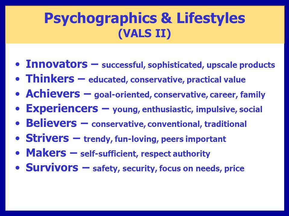 Psychographics & Lifestyles (VALS II)