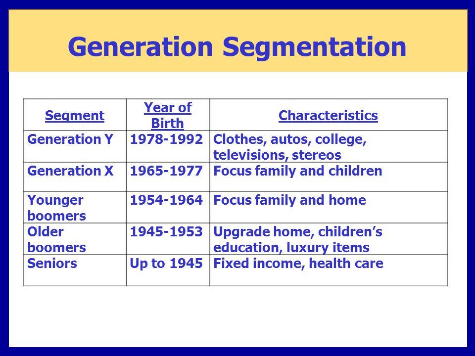 Generation Segmentation