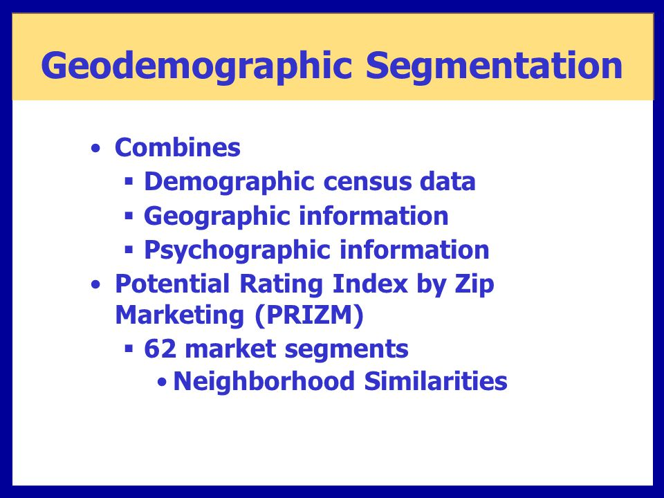 geodemographic clustering