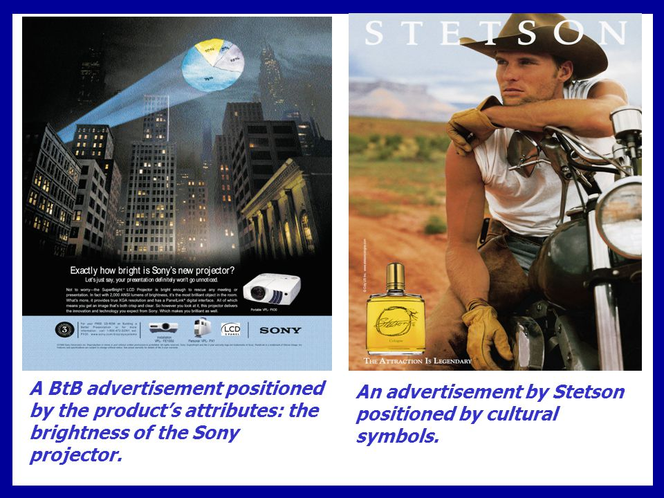 An advertisement by Stetson positioned by cultural symbols.
