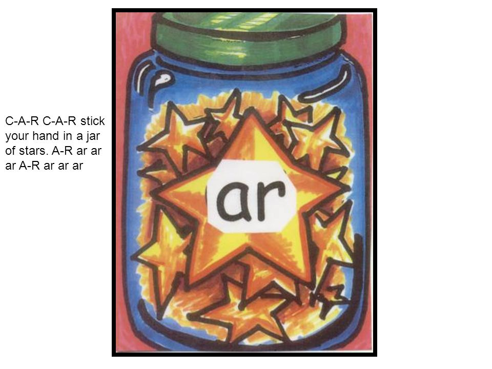 C-A-R C-A-R stick your hand in a jar of stars