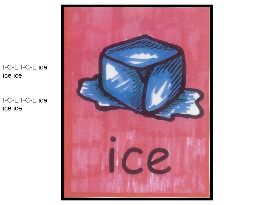 I-C-E I-C-E ice ice ice