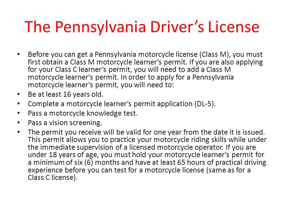 The Pennsylvania Driver's License
