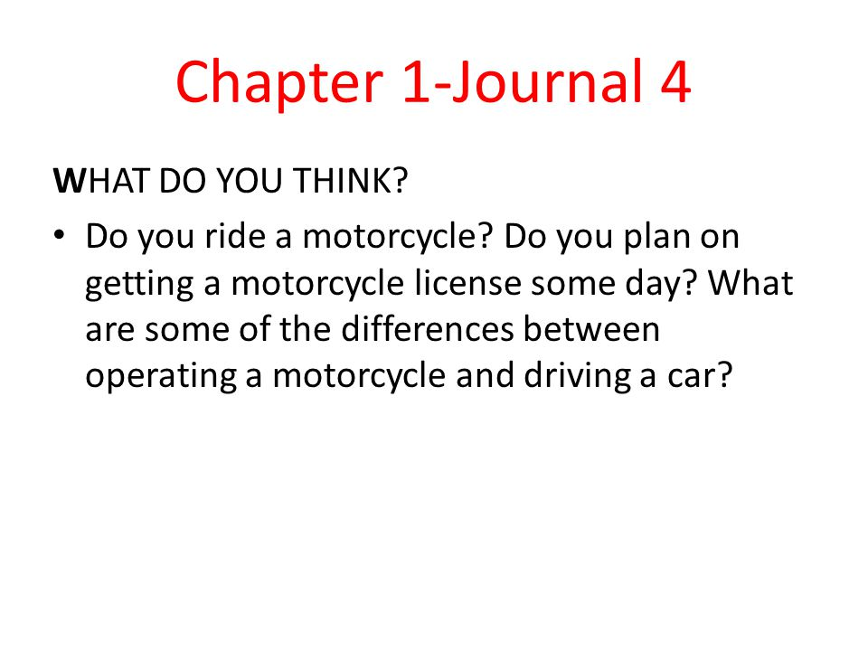 Chapter 1-Journal 4 WHAT DO YOU THINK