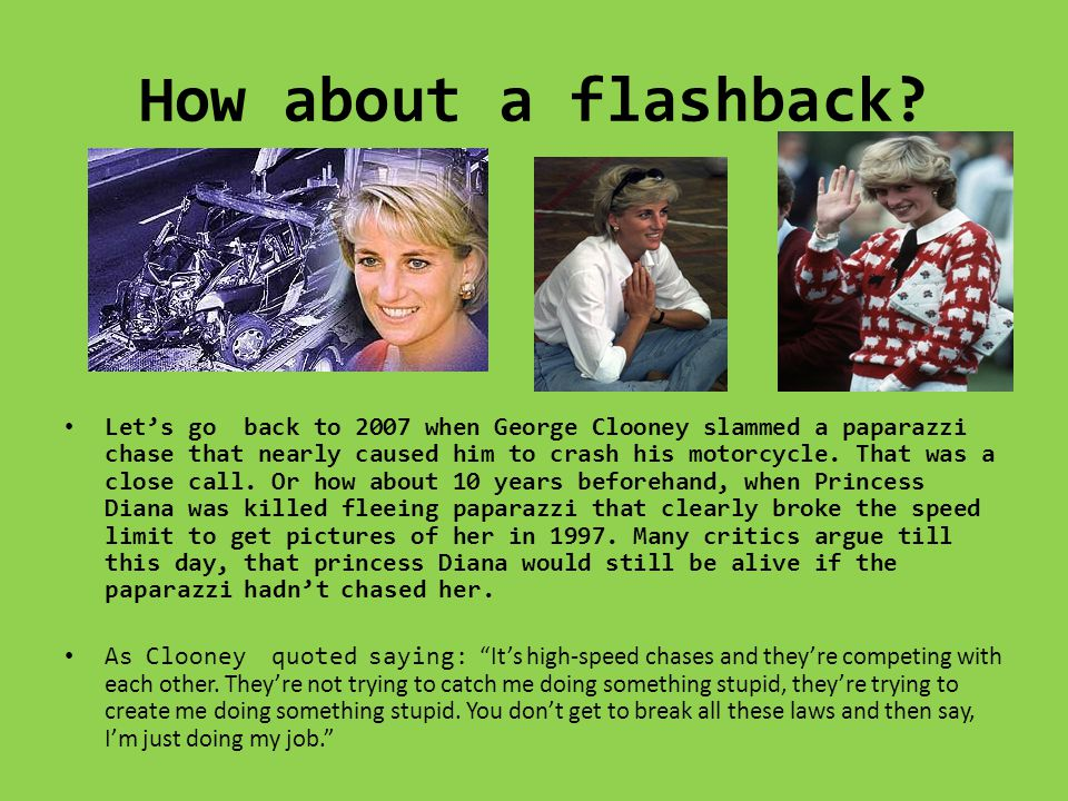 How about a flashback