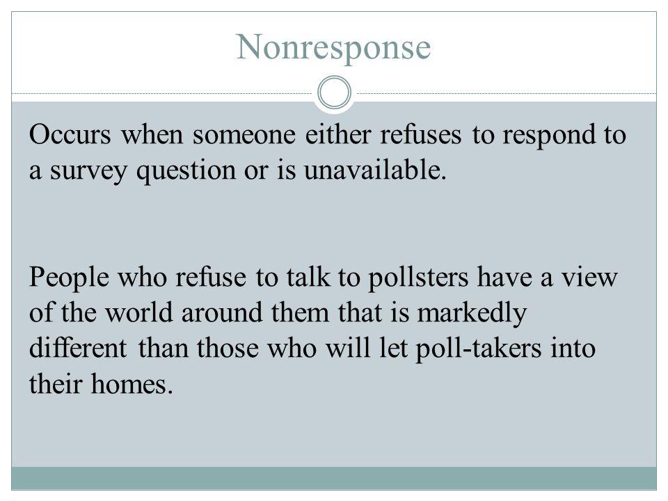Nonresponse