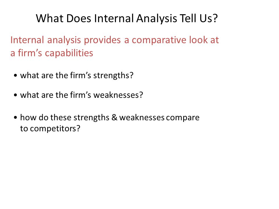 What Does Internal Analysis Tell Us