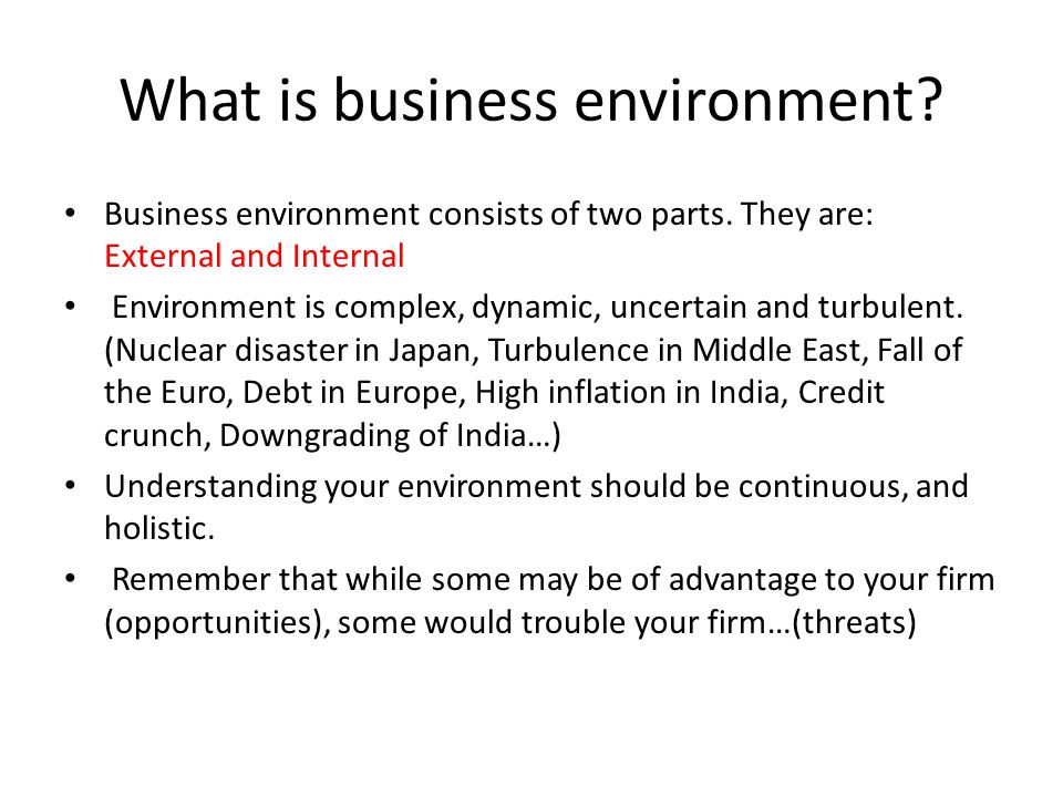 What is business environment