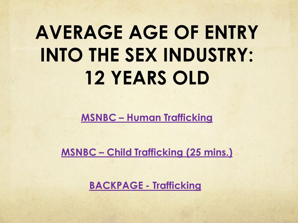 BACKPAGE - Trafficking