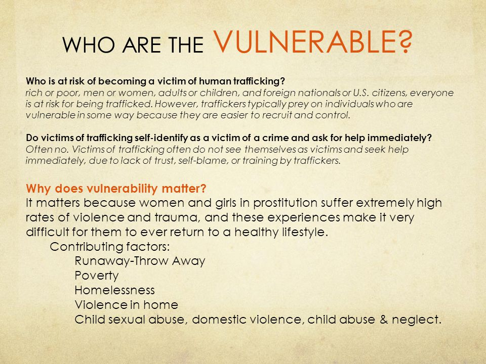 WHO ARE THE VULNERABLE Why does vulnerability matter