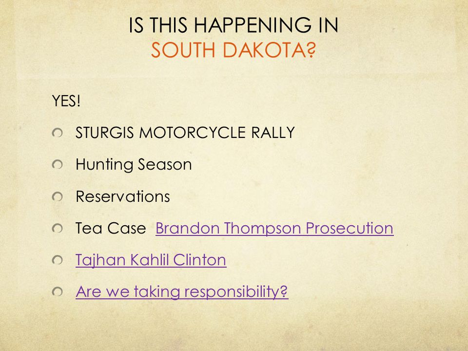 IS THIS HAPPENING IN SOUTH DAKOTA