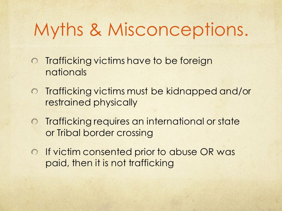 Myths & Misconceptions.