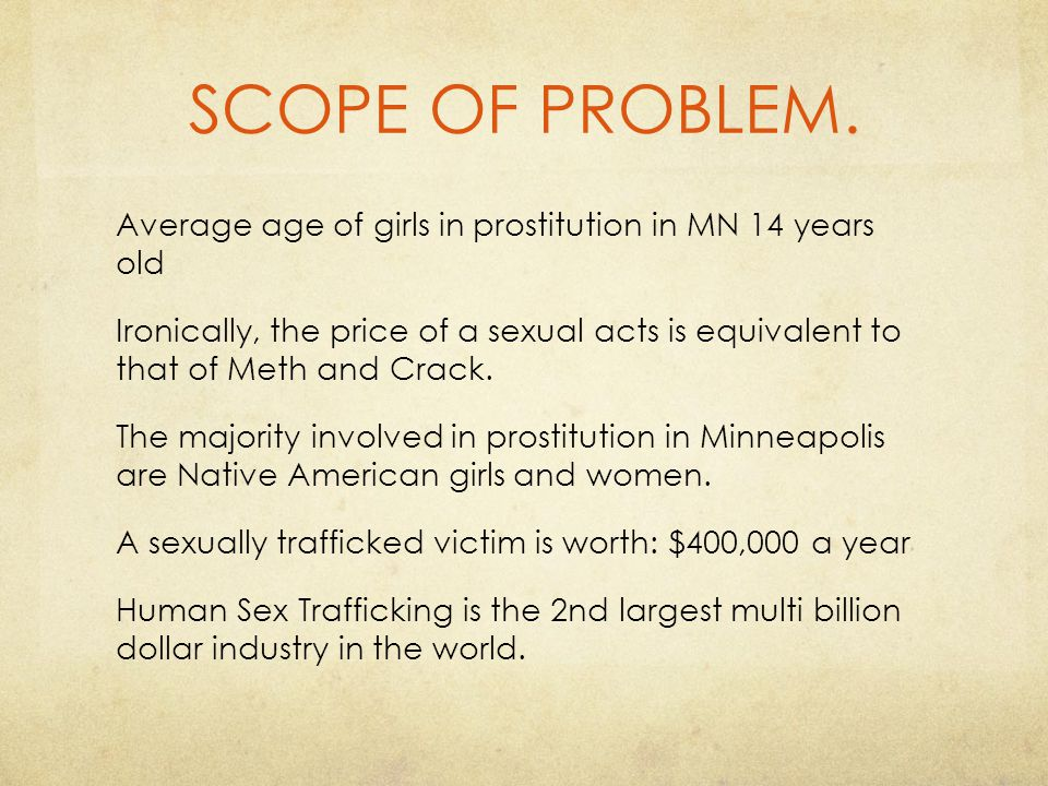 SCOPE OF PROBLEM.