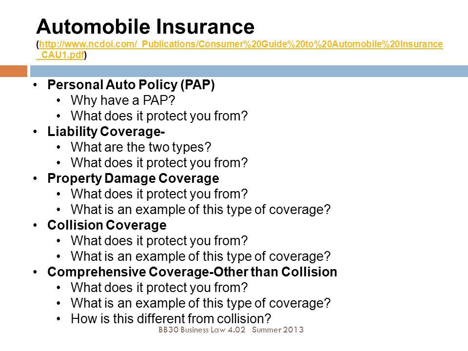 Automobile Insurance (http://www. ncdoi