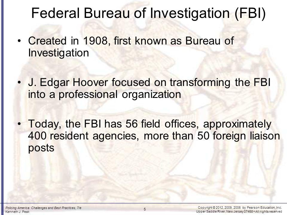 Priorities of the FBI Three top priority areas Other priorities