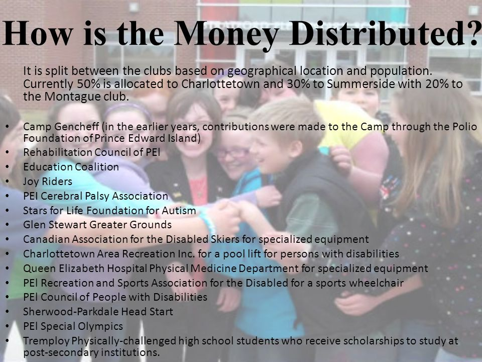How is the Money Distributed