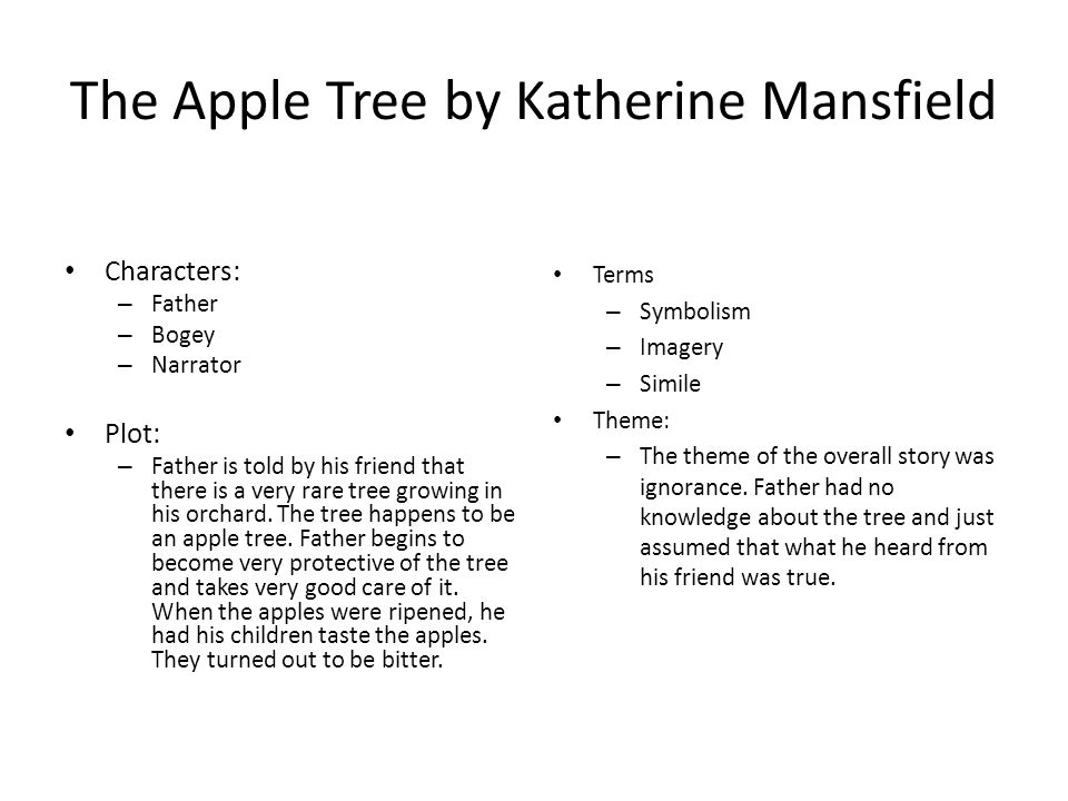 The Apple Tree by Katherine Mansfield