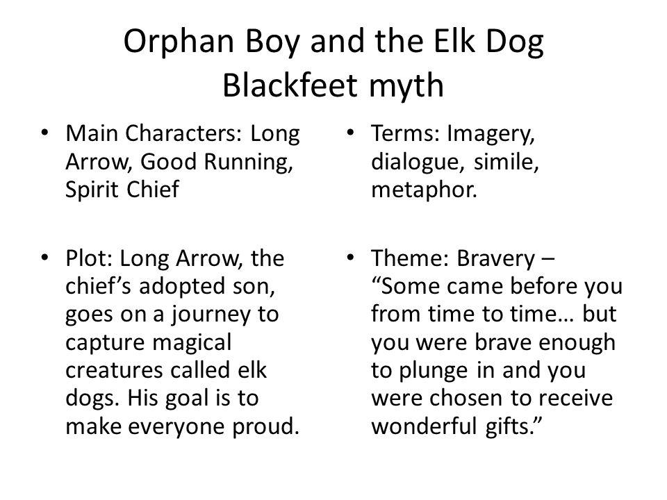 Orphan Boy and the Elk Dog Blackfeet myth