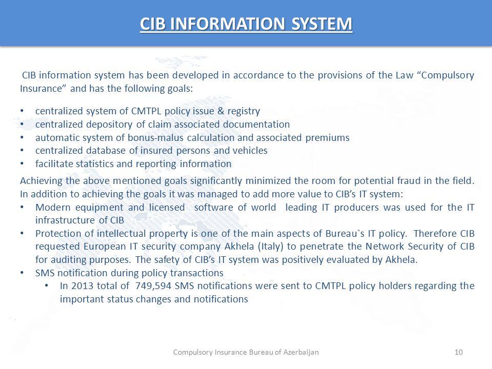 CIB INFORMATION SYSTEM