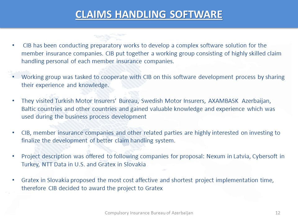 CLAIMS HANDLING SOFTWARE