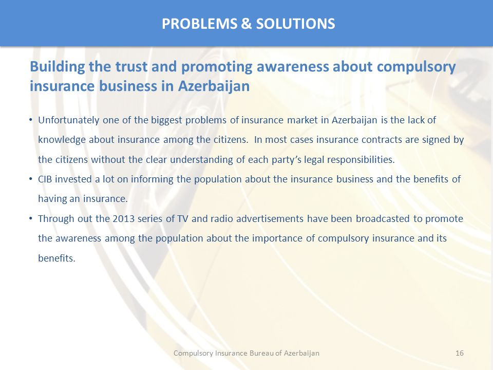 Compulsory Insurance Bureau of Azerbaijan