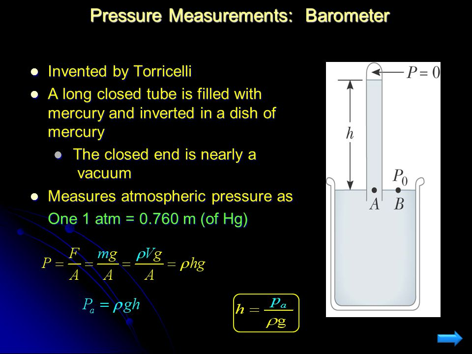 Pressure Measurements: Barometer