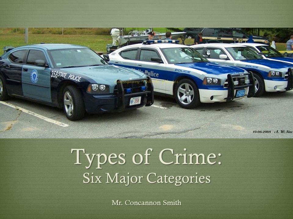 Types of Crime: Six Major Categories