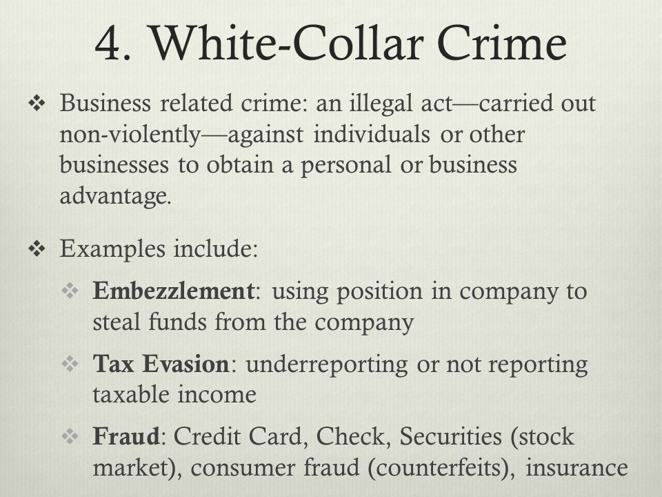 4. White-Collar Crime
