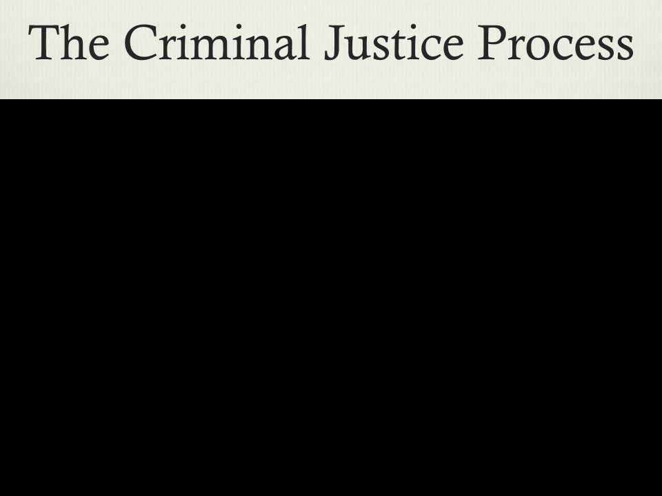 The Criminal Justice Process