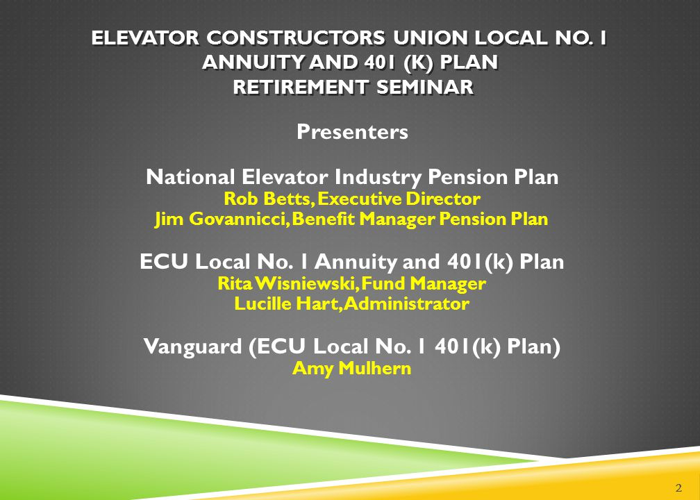 National Elevator Industry Pension Plan