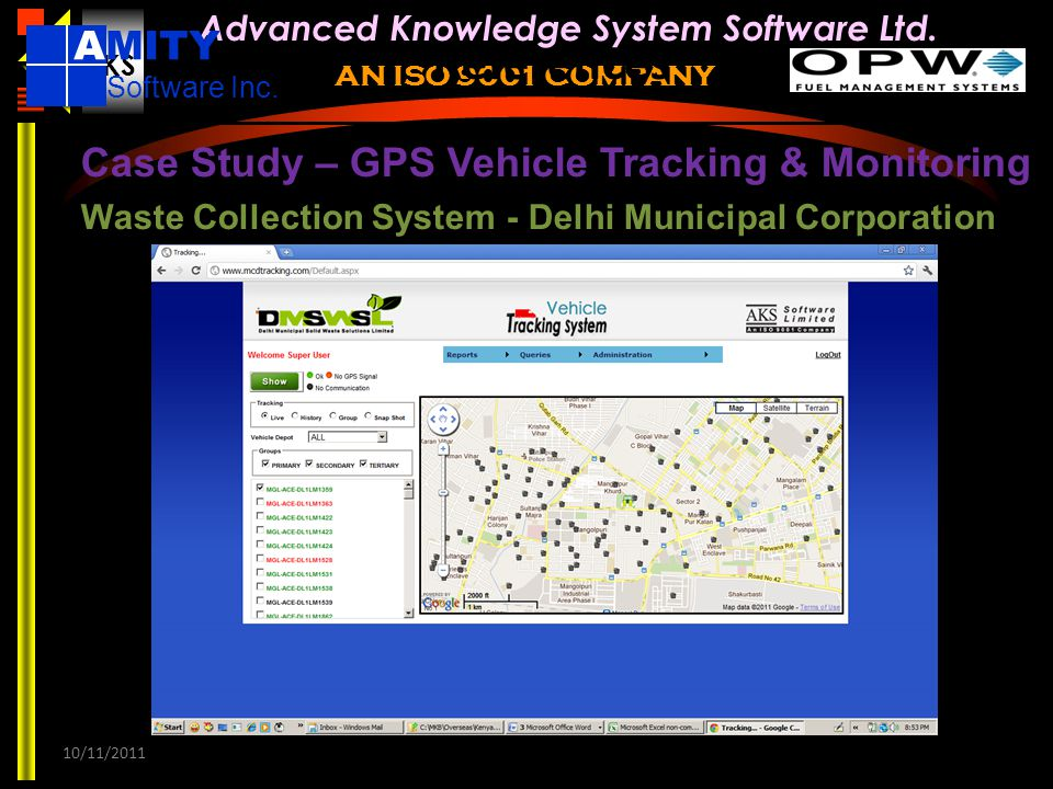 References AMITY Case Study – GPS Vehicle Tracking & Monitoring