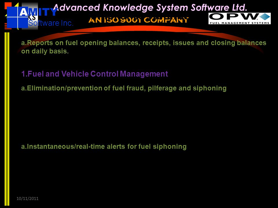 Compliance Statement AMITY Software Inc.
