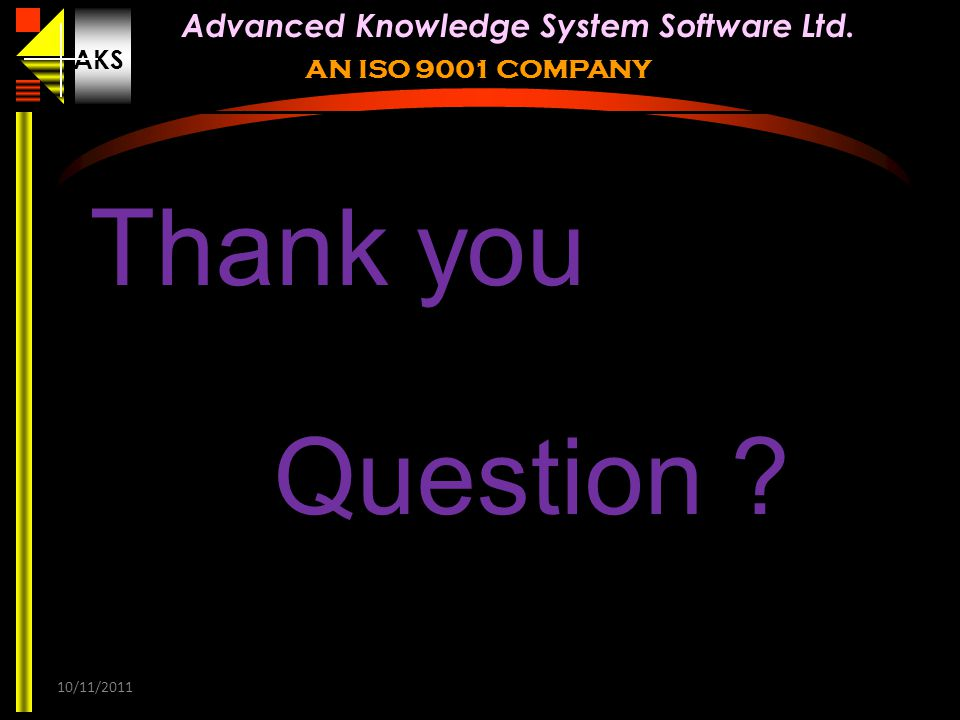 Thank you Question 10/11/2011 31