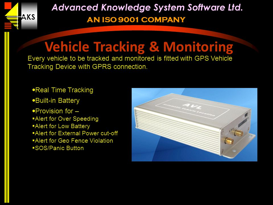 Vehicle Tracking & Monitoring