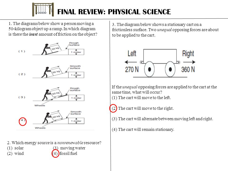 FINAL REVIEW: PHYSICAL SCIENCE