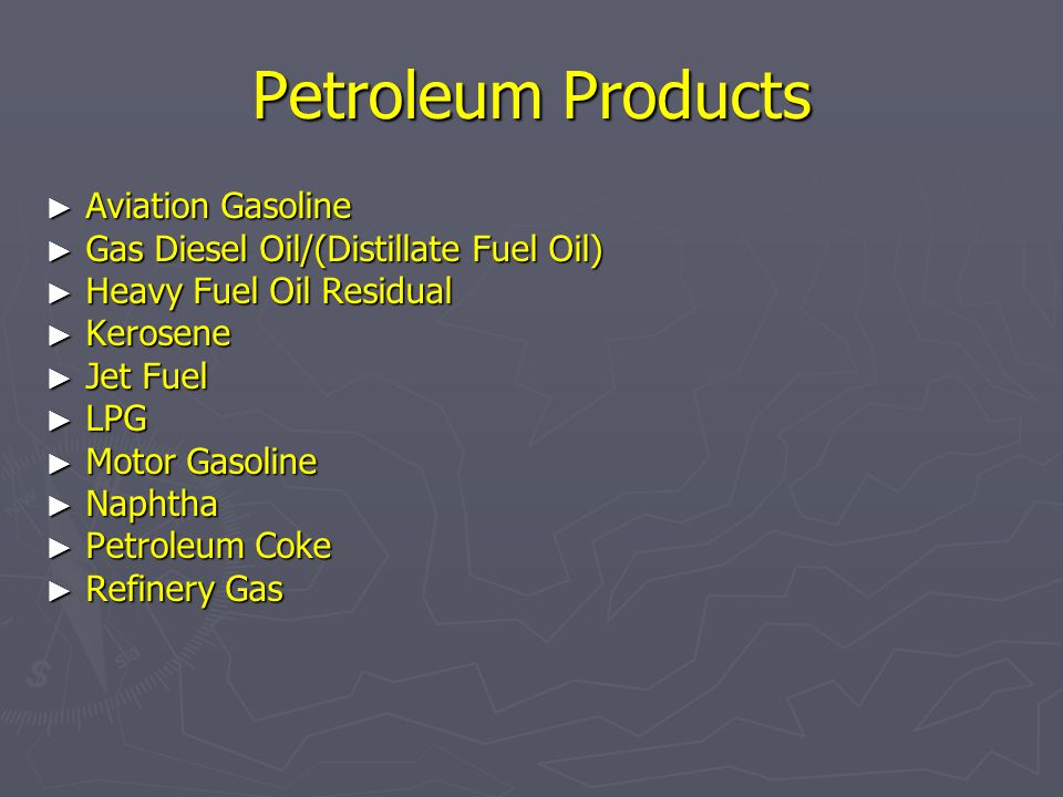 Petroleum Products Aviation Gasoline