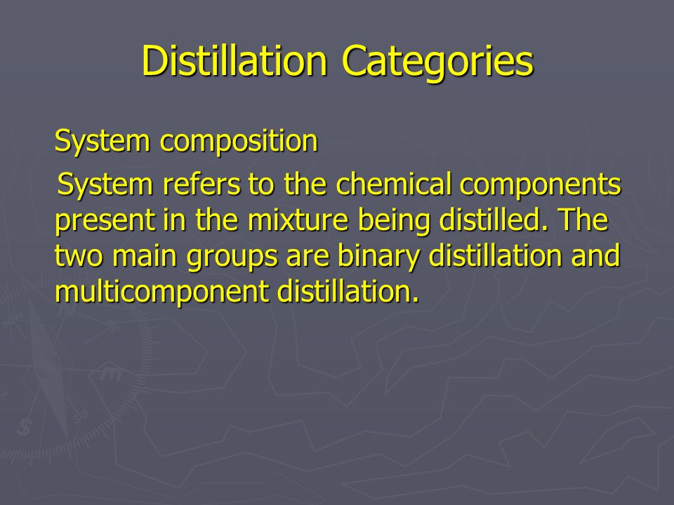 Distillation Categories