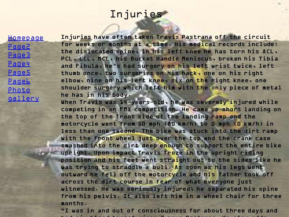 Injuries Homepage Page2 Page3 Page4 Page5 Page6 Photo gallery