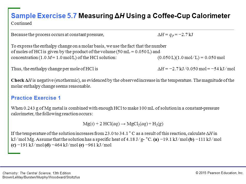 Mg(s) + 2 HCl(aq) → MgCl2(aq) + H2(g)