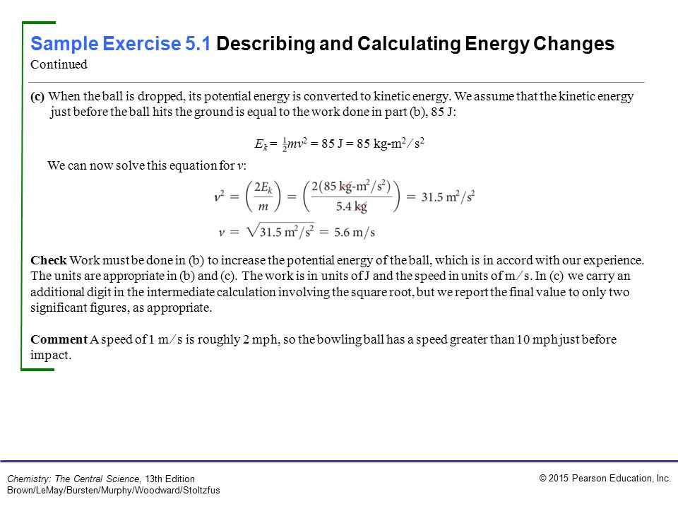 Sample Exercise 5.1 Describing and Calculating Energy Changes