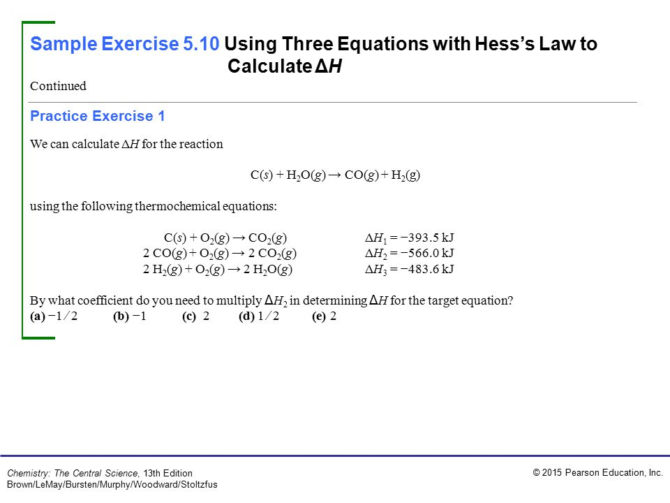 C(s) + H2O(g) → CO(g) + H2(g)