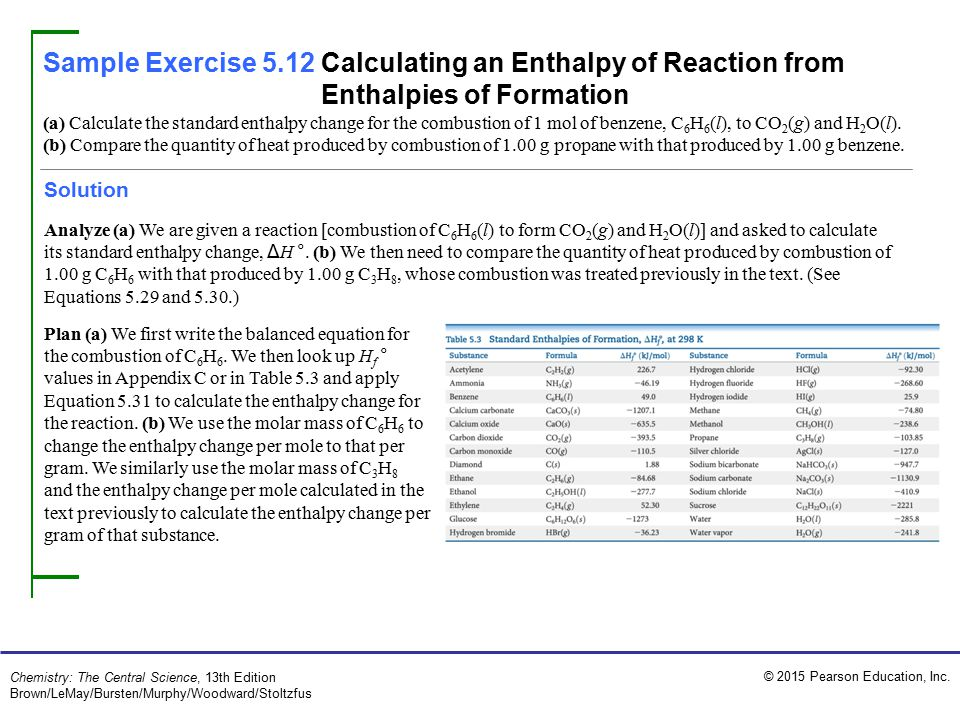 Sample Exercise 5.1 Describing and Calculating Energy Changes ...