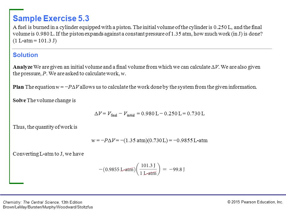 Sample Exercise 5.3 Solution