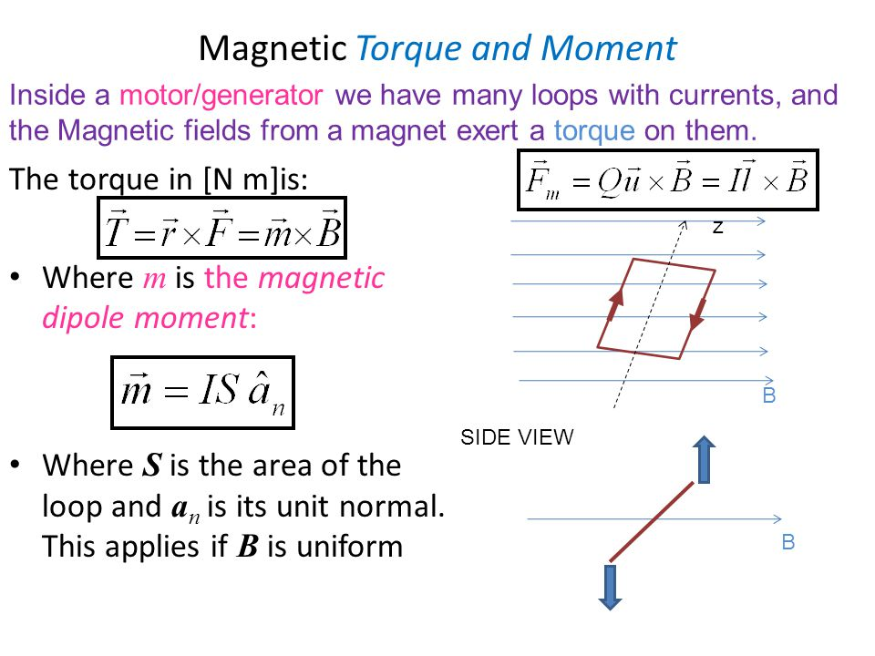 Magnetic Torque and Moment