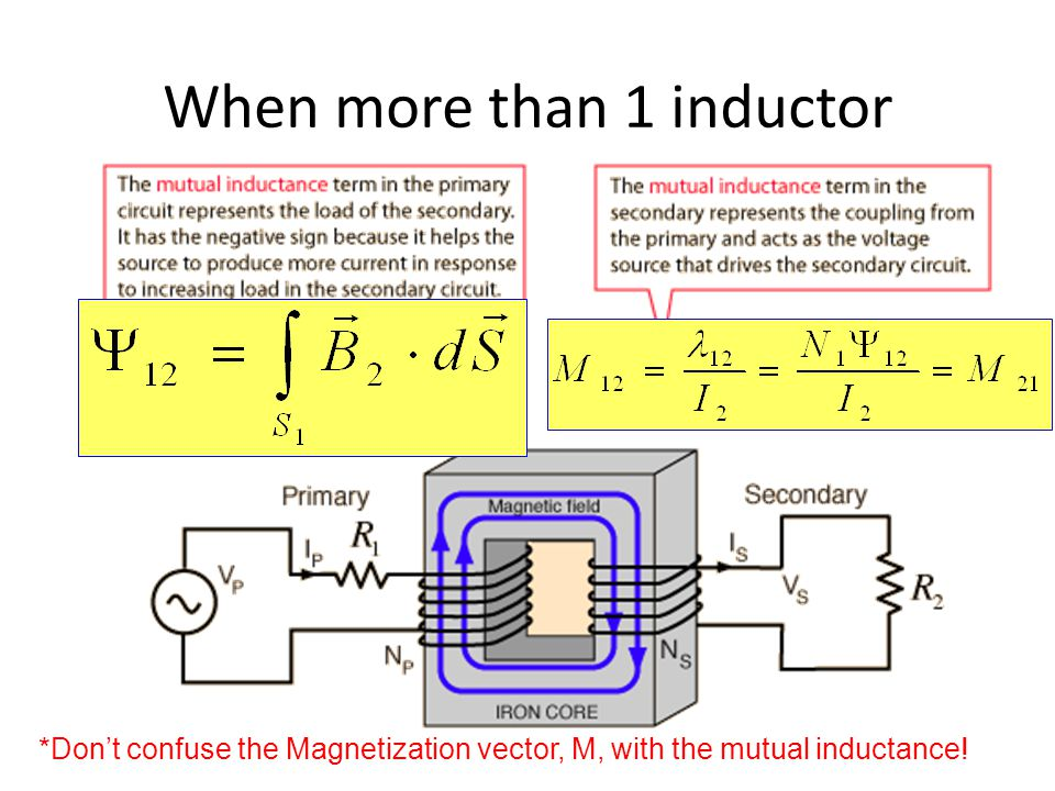 When more than 1 inductor