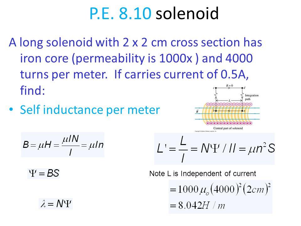 P.E. 8.10 solenoid