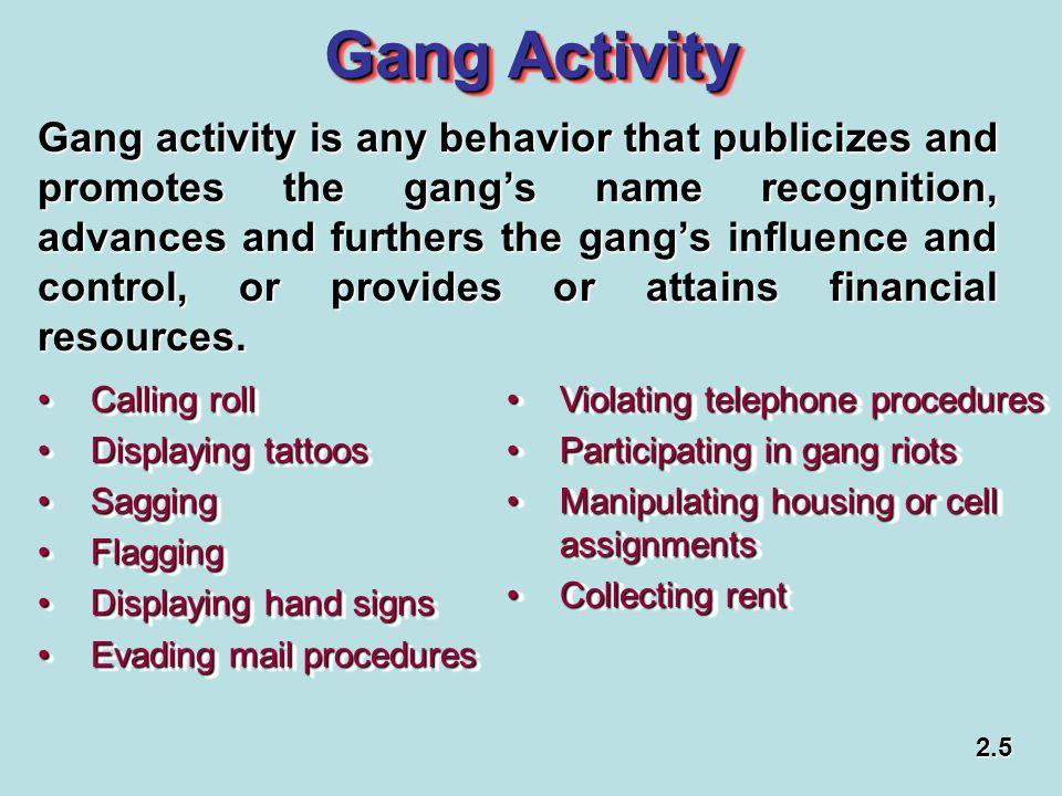 Gang Activity