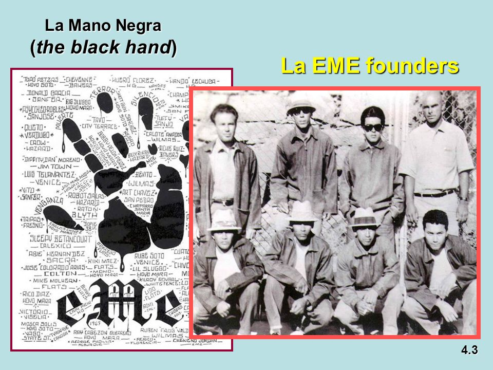 La Mano Negra (the black hand) La EME founders 4.3