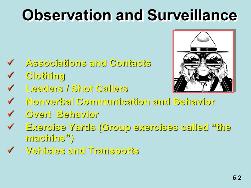 Observation and Surveillance