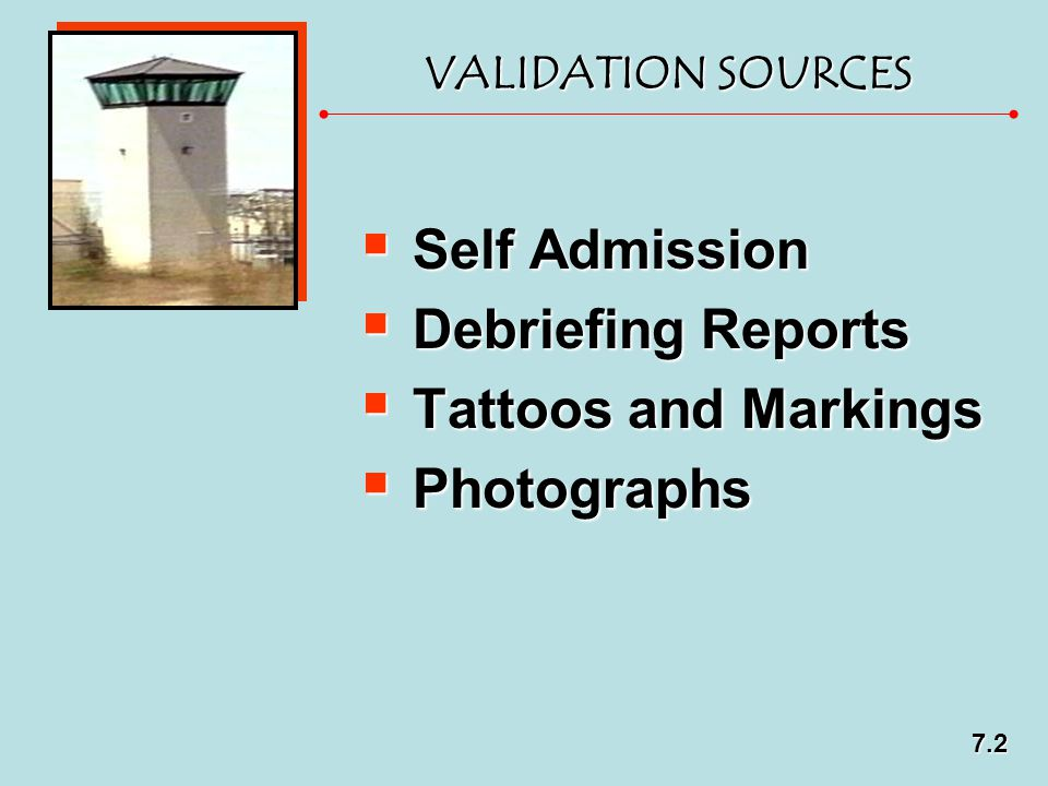 Self Admission Debriefing Reports Tattoos and Markings Photographs